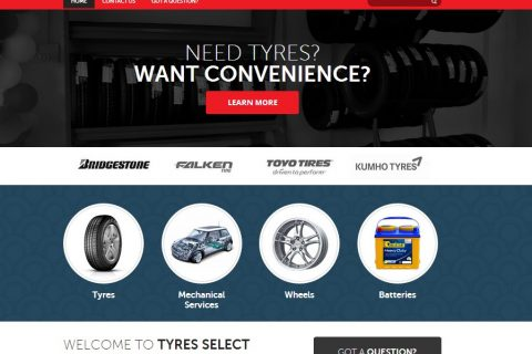 Tyre Workshop Web designer
