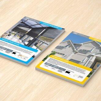 home building leaflet design