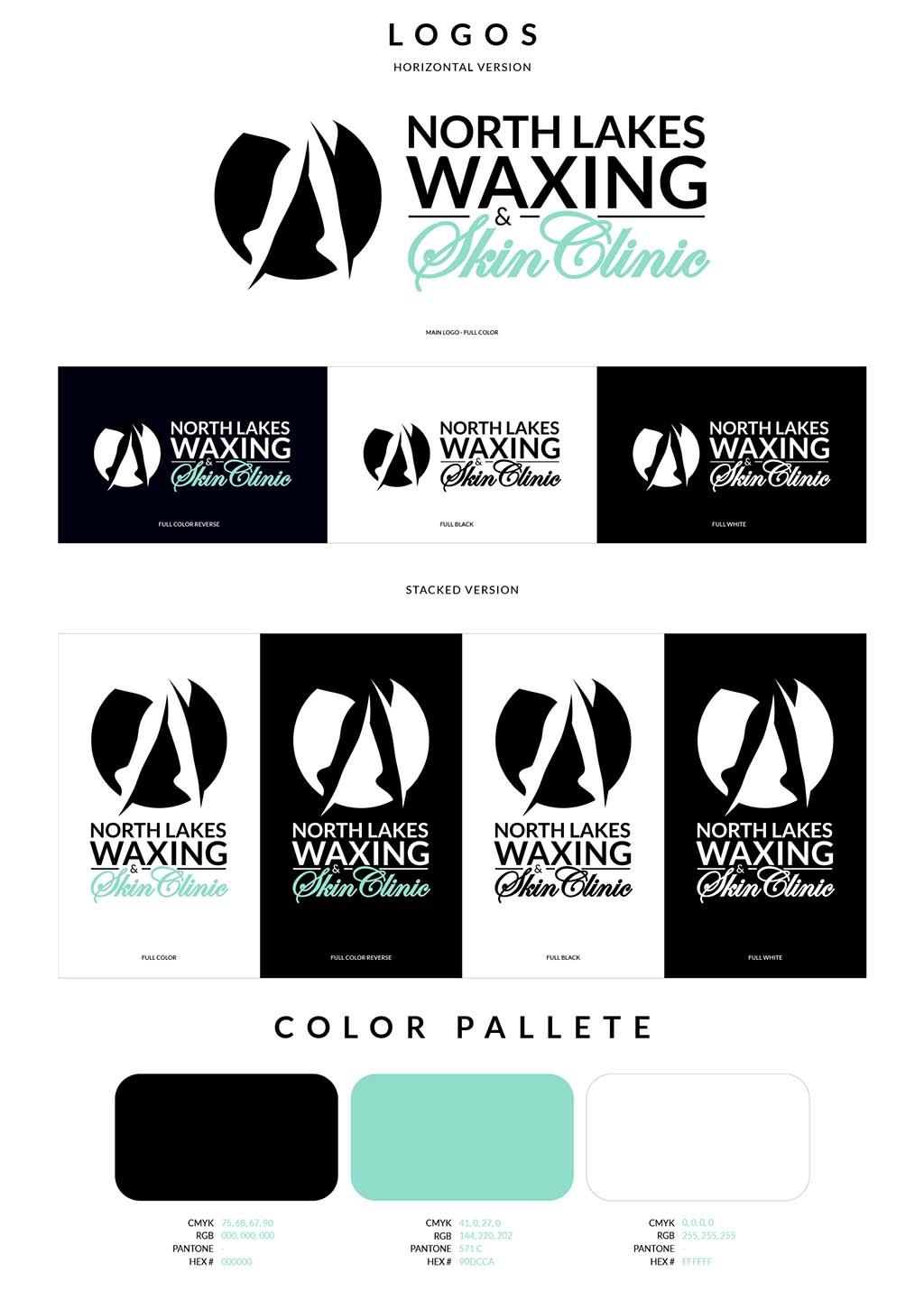 Skin Clinic Logo Design Branding Guidelines