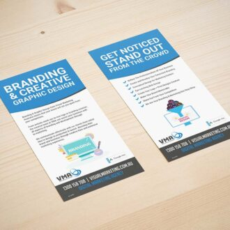 Branding and creative graphic design leaflets