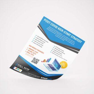 social media advertising leaflet