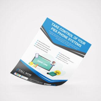 44 leaflet graphic design concept