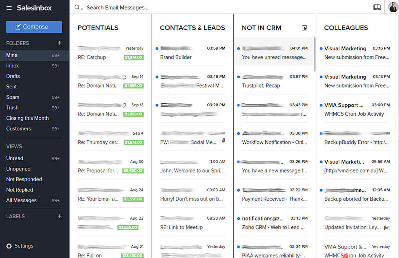 CRM Intelligent Email
